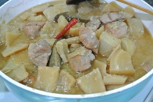 干しカブと塩豚の煮物7
