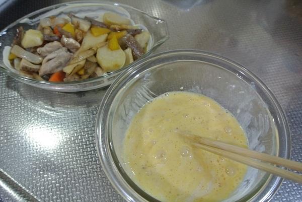 根菜と長芋のソースグラタン5