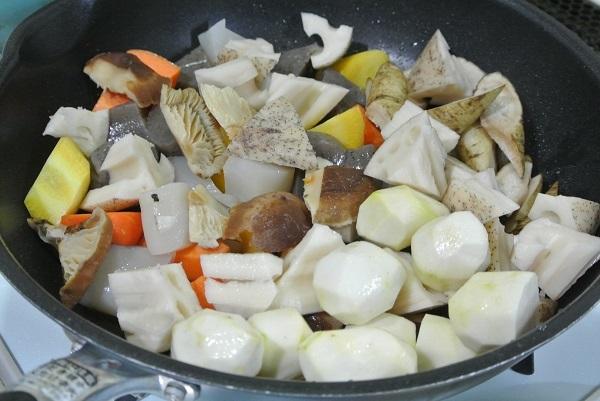 根菜と長芋のソースグラタン7