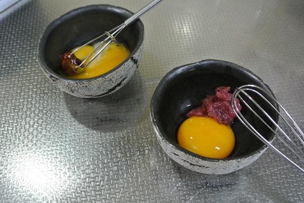 野菜の生春巻き卵黄ソース1