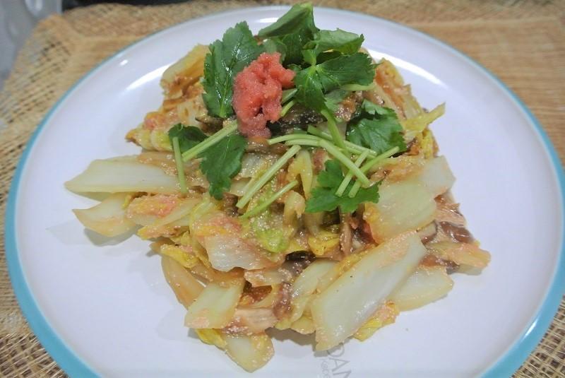 白菜とタラコの甘煮1 (2)