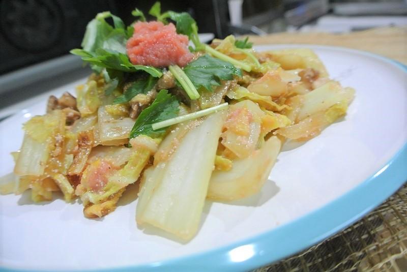 白菜とタラコの甘煮2 (2)