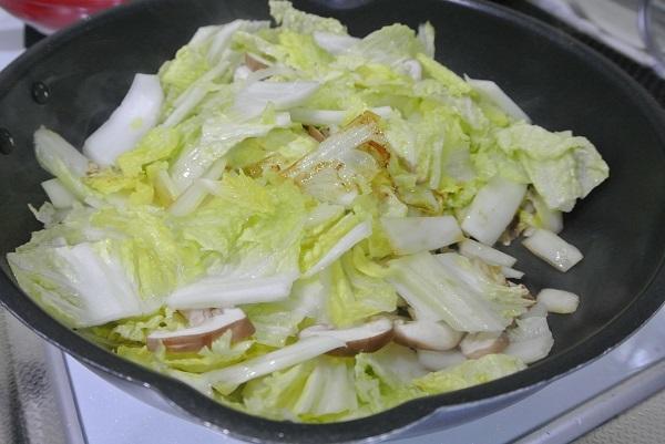 白菜とタラコの旨煮4