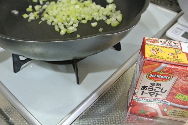 鶏レバーと砂肝のトマトソース煮4