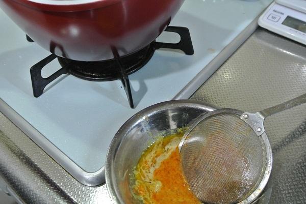 砂肝と手羽元のキムチ鍋2
