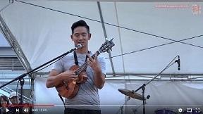 フラガール Jake Shimabukuro「Hula Girl」いわき街なかコンサート 2016.10.1