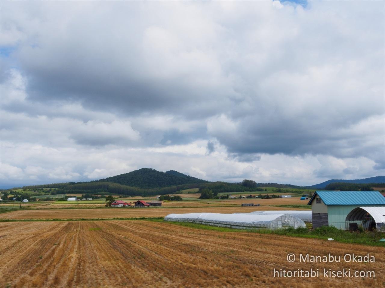 北の大地における畑の光景