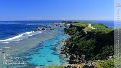 沖縄,デスクトップカレンダー,10月,海,宮古島,壁紙