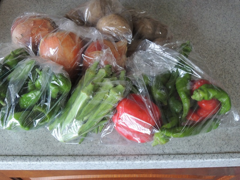 いただいた野菜 その1
