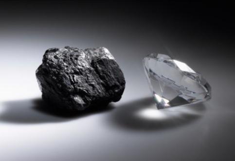 ダイヤモンドと炭