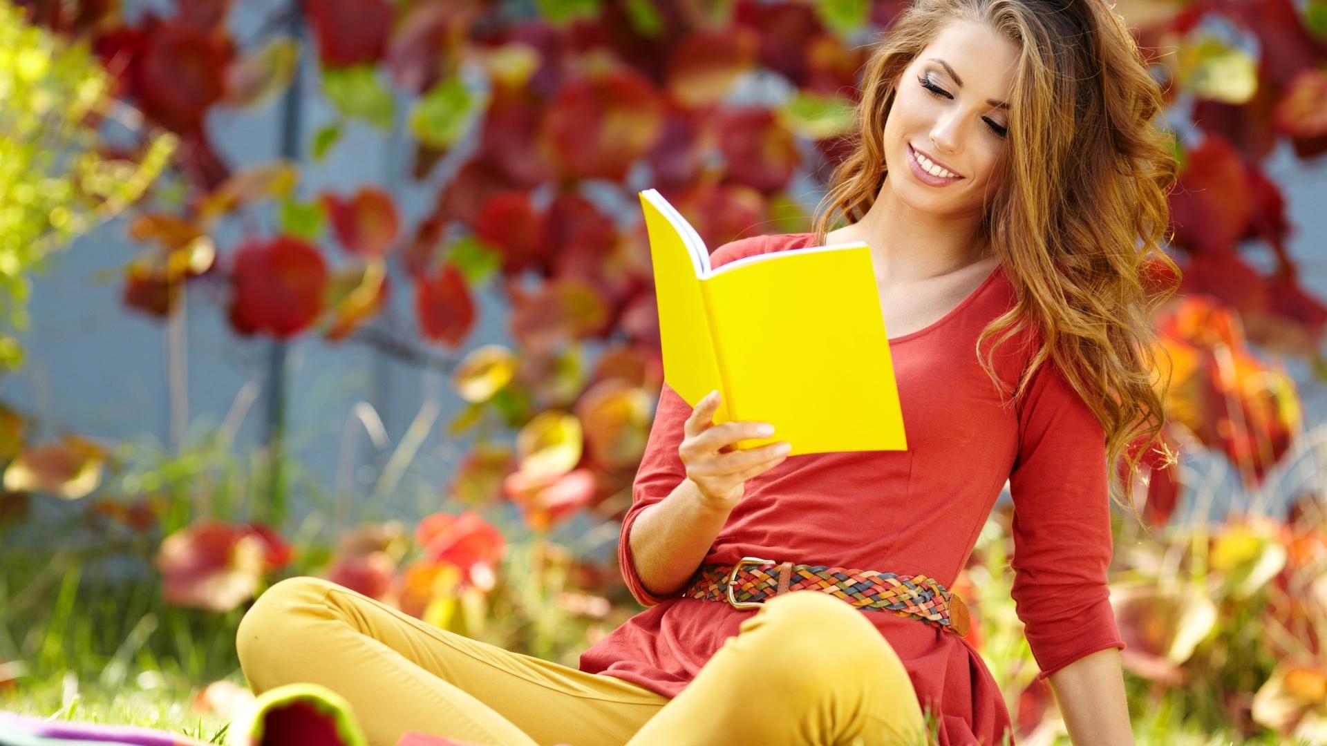 女性 外国人 読書 13
