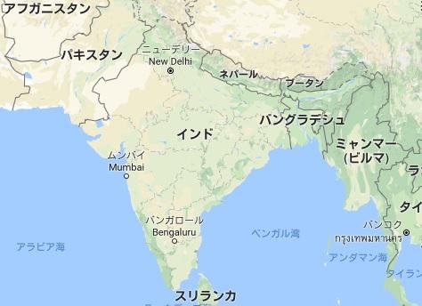 インド周辺地図