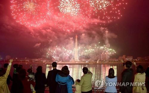 朝鮮半島で予定されている花火大会の「予行演習」