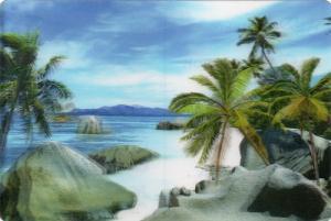 3Dカード Island