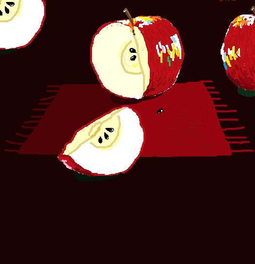 4分の1カットりんご