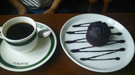 小熊邸チョコケーキセット