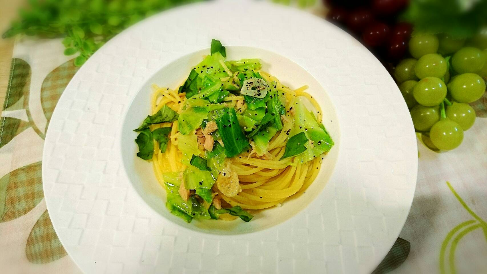 超簡単 8分でできる ツナとキャベツのスパゲティー