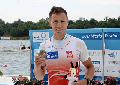 ポーランド LM1X ミコライチェフスキ選手 2017WRC2優勝 World Rowingより