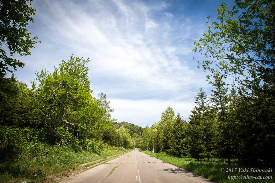 道道354号線 下川鉱山まで行く途中の風景