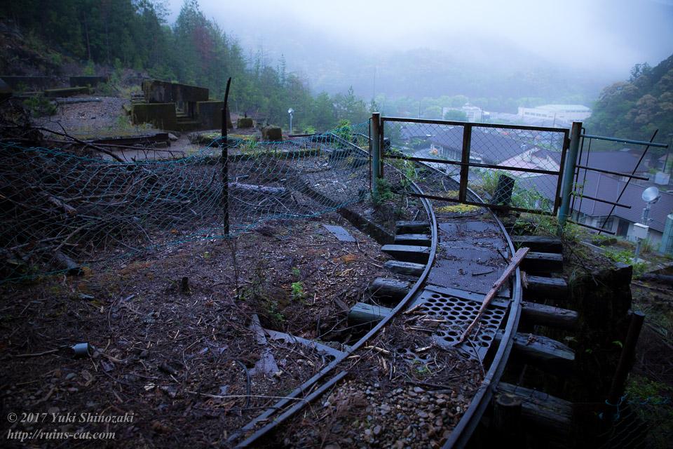 紀州鉱山(紀和鉱山)_インクライン最初の分岐
