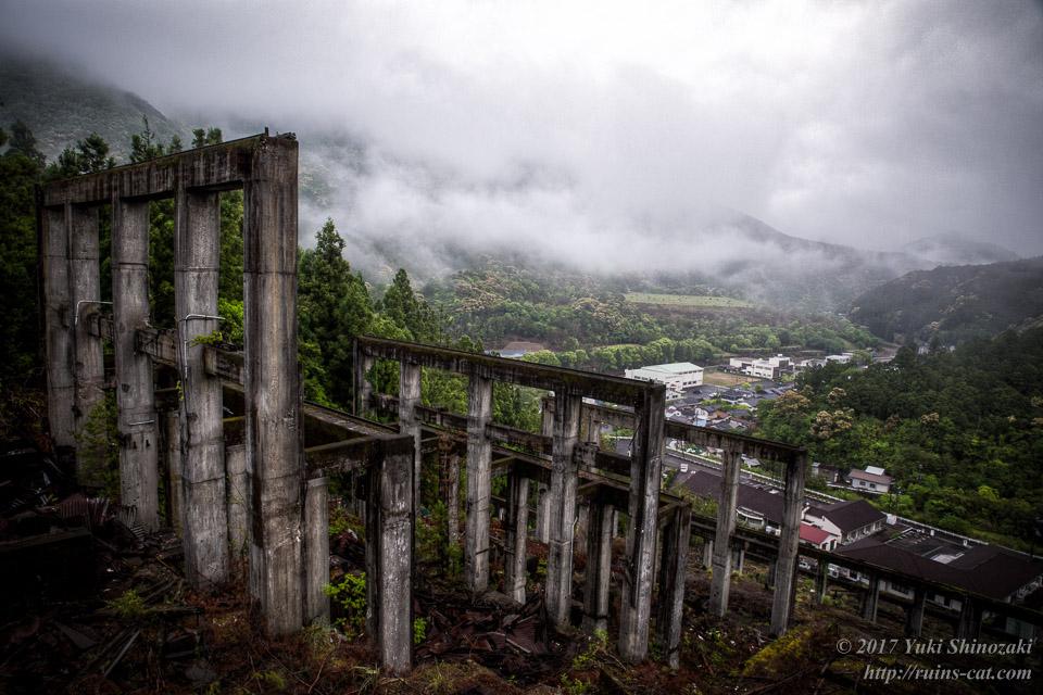 紀州鉱山(紀和鉱山)_選鉱場側から見た紀和町全景