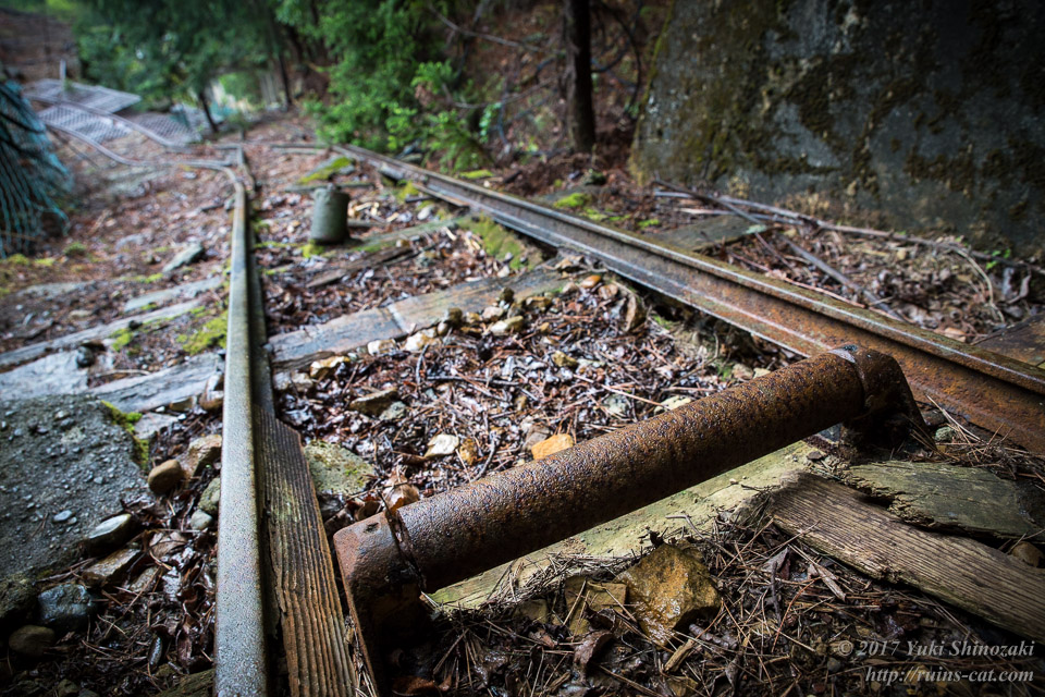 紀州鉱山(紀和鉱山)_インクラインのローラー