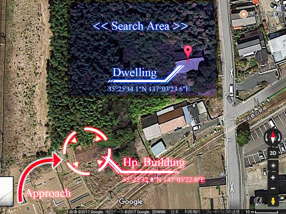 【廃墟写真】K医院_現場の航空写真
