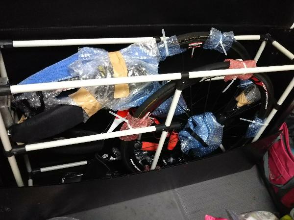 荷造り完了~!海外遠征用バイク梱包は大変(^_^;)