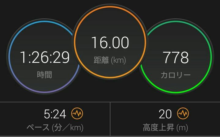 いいとこなしのラン練習(^_^;)ランナーへのジョブチェンジの道は険しいw