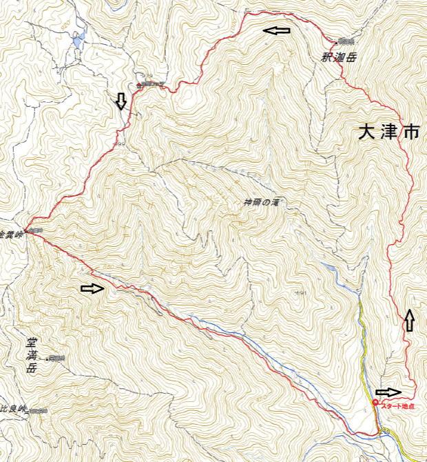 H301111釈迦岳,カラ岳(1)