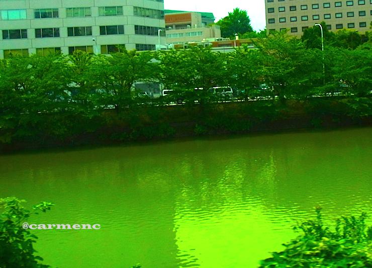 市ヶ谷ホームから神田川