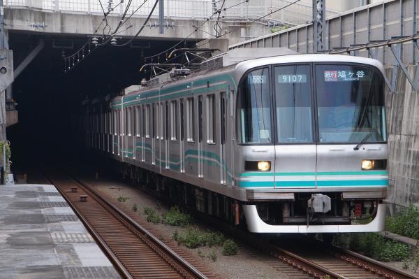 2017-09-26 メトロ9107F 急行鳩ヶ谷行き