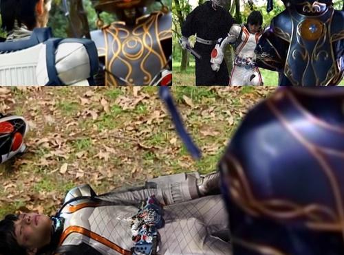 ヒーロー、仮面ライダーフォーゼが偽フォーゼにやられてピンチ