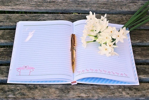 notebook flower