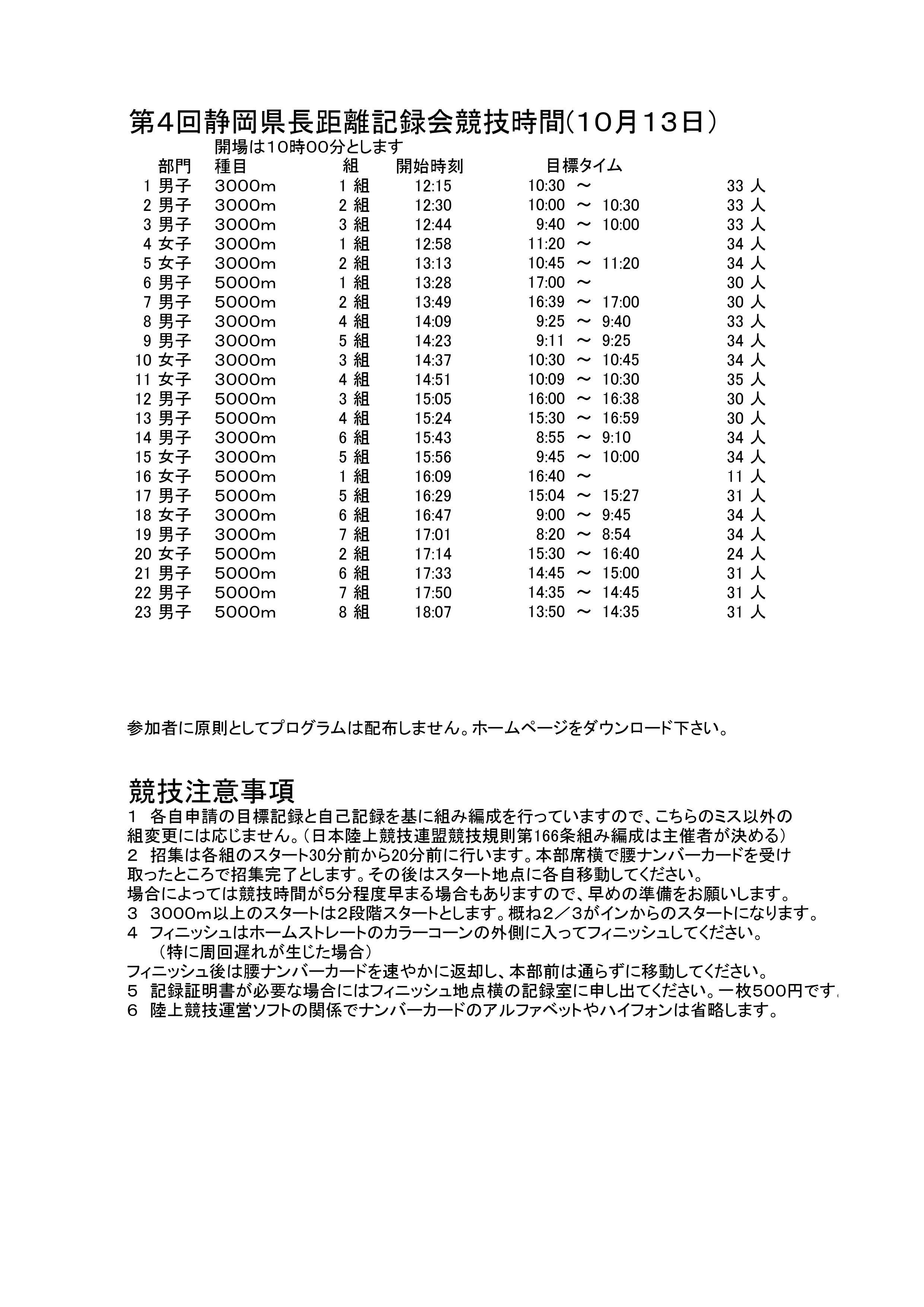 20181013長距離記録会TT