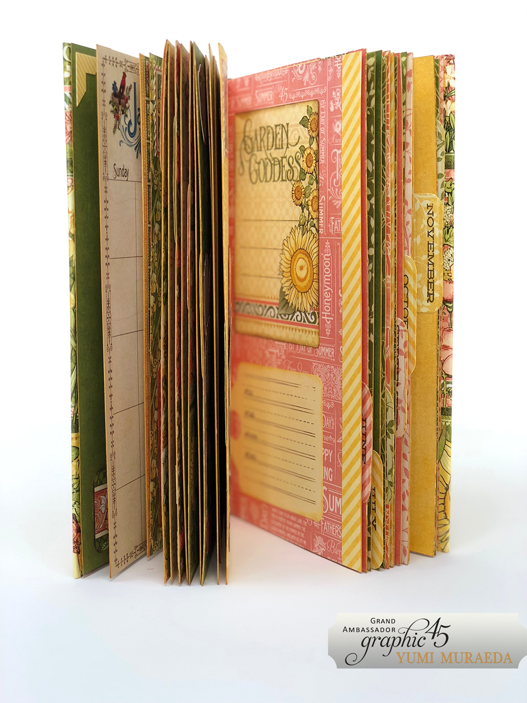 4Advent Calendar Bookdesign by Yumi Muraeda products by Graphic 45