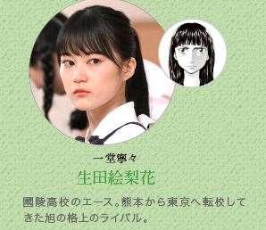 あさひなぐ キャラクター 映画登場人物 一堂寧々 生田絵梨花