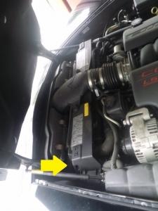 コルベットC6 ラジエーター漏れ