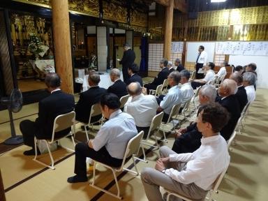 慰霊法要で竹山会長から追悼の挨拶も