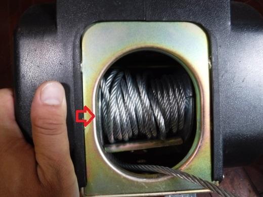 ポータブルウインチ修理 (2)