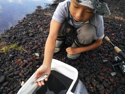 中禅寺湖のおかっぱり釣り (3)