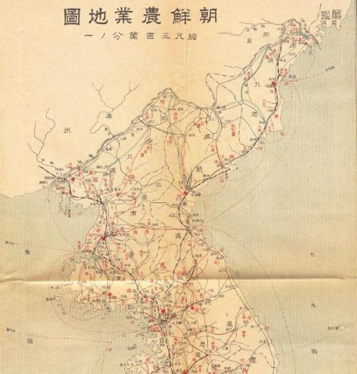 北朝鮮朝鮮農業地図北鮮1