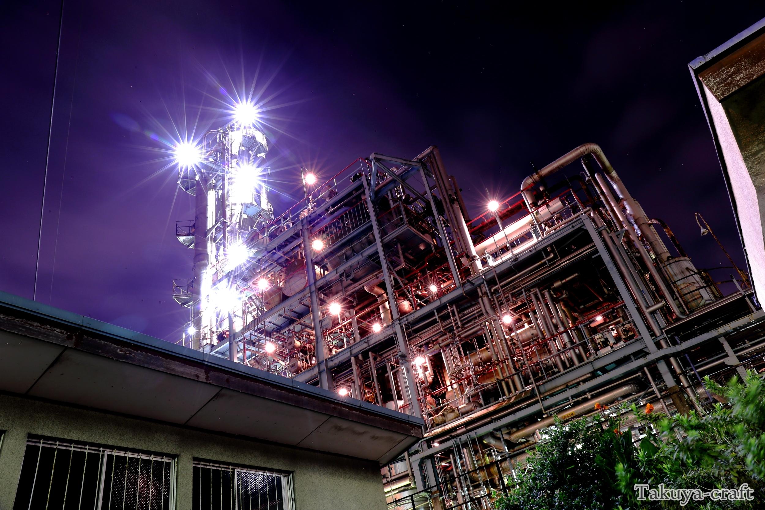 地帯 夜景 工場