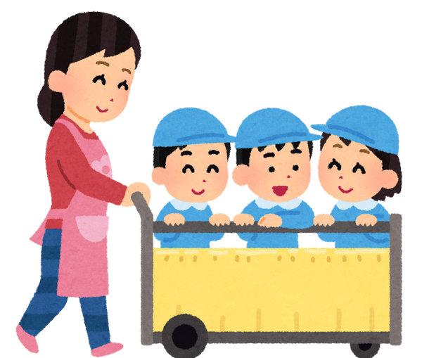 保育士 保育園 幼稚園 お散歩 いらすとや