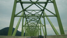 大島大橋上