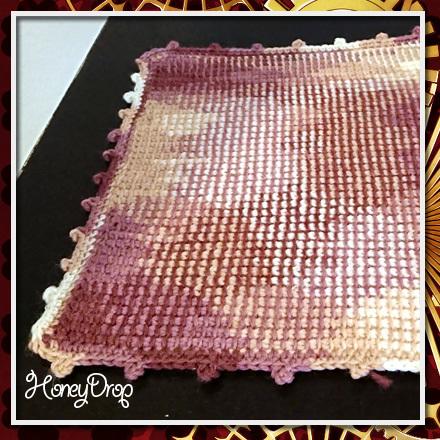 プレーン編みミニマット1