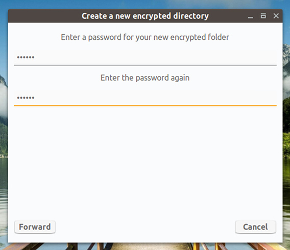 Cryptkeeper Ubuntu パスワードの入力