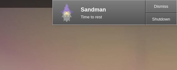 Sandman Ubuntu 最適な就寝時刻 タイマー 通知