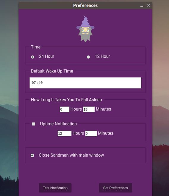 Sandman Ubuntu タイマー 最適な就寝時刻 設定