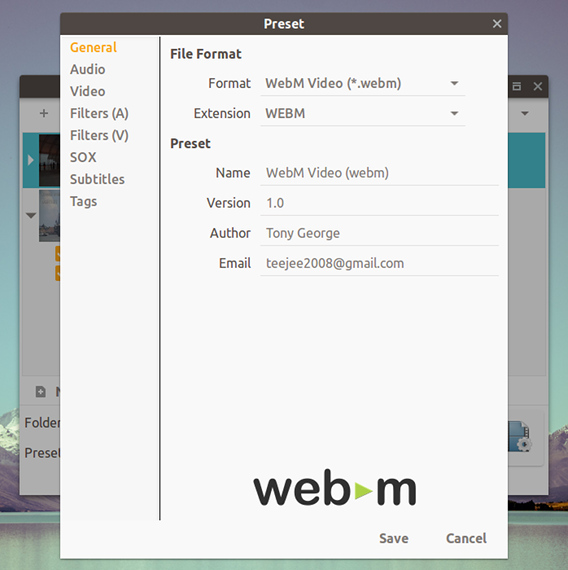 Selene v17.7 Ubuntu 動画変換アプリ プリセット